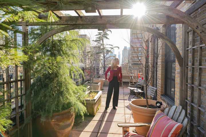 Kirsten Jordan outside on a patio