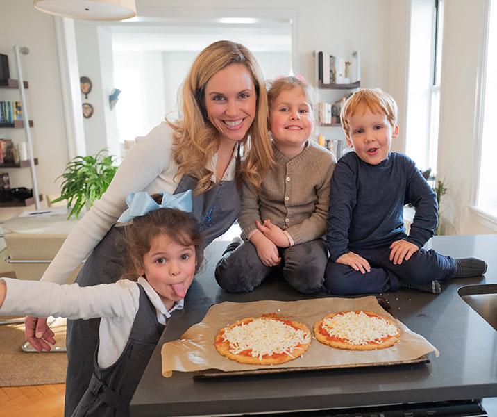 KJ and Kids Making Pizza